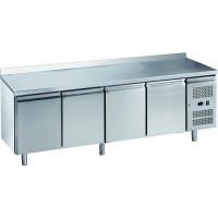 Kühltisch ECO 4/0 mit Aufkantung - GN 1/1