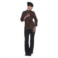 Damenkochjacke Larissa, hellbraun, Größe: 50