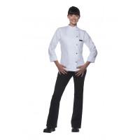 Damenkochjacke Larissa, weiß, Größe: 50