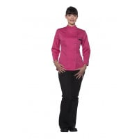 Damenkochjacke Larissa, pink, Größe: 50