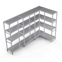 Kühlzellenregal Profi Kit 3, 1190/1250 x 400 x 1670 mm, 4 Böden | Kühltechnik/Kühlzellen & Aggregate/Regale