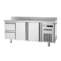 Bäckereikühltisch Premium 2/2 mit Aufkantung | Kühltechnik/Kühltische/Bäckerei-Kühltische