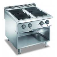 Elektroherd Dexion Lux 980 - 80/90 quadratische Kochfelder