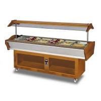 Gastro Buffet HOT, 2200 x 900 x 850/1350 mm, GN 6/1 - ohne Behälter