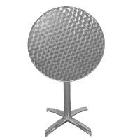 Edelstahl Klapptisch Bolero rund, 1 Bein, Durchmesser 60 cm