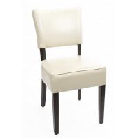 Esszimmerstühle Bolero mit tiefem Sitz Kunstleder beige