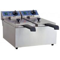 Elektro-Doppel-Fritteuse ECO 6+6 Liter