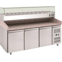 Pizzatisch ECO 3/0 mit Kühlaufsatz ECO 10x GN 1/4