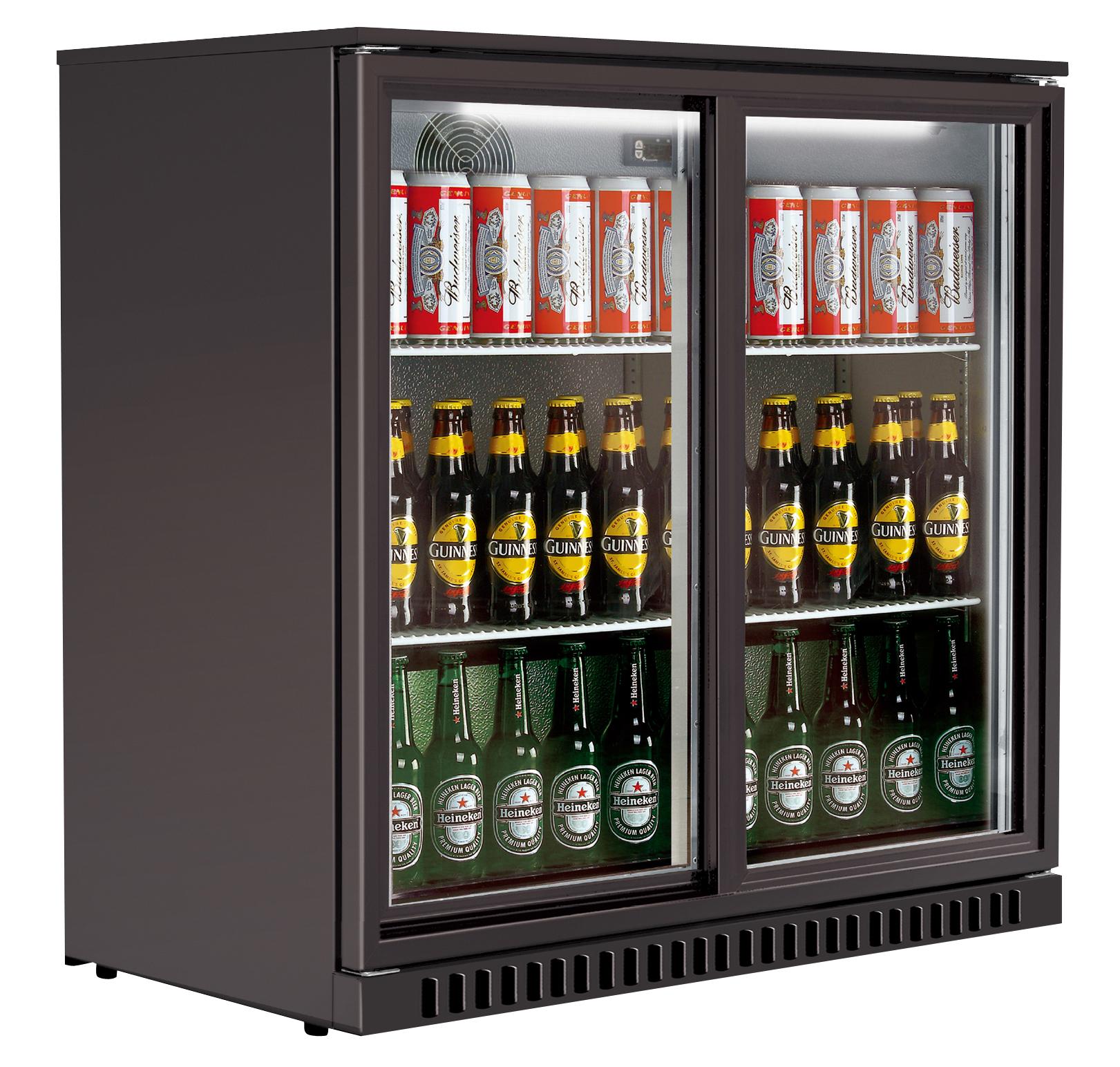Barkühlschrank ECO 208 Liter mit Schiebetüren silber line Shop