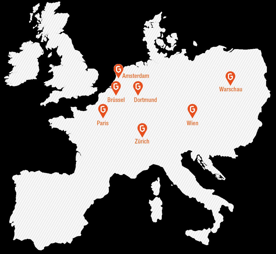 Europakarte von GastroHero